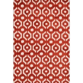 Aaron Rust Lattice Microfiber Woven Rug (3'6 x 5'6)
