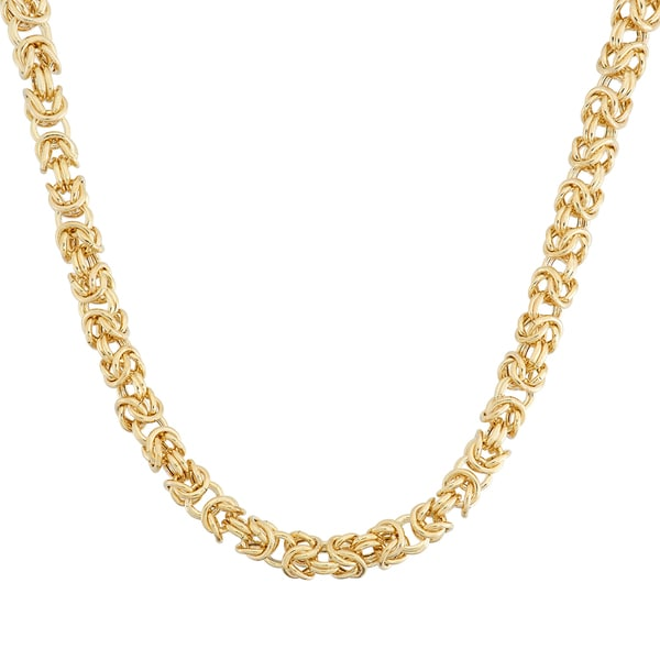Gioelli 14k Yellow Gold Petite Byzantine Necklace