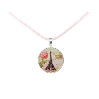 Be The Envy Pink Paris Satin Necklace