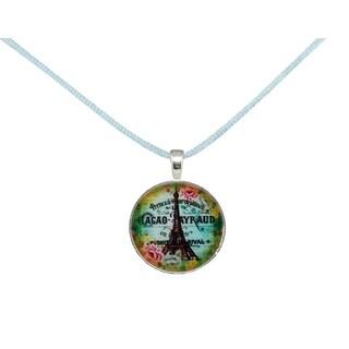 Be The Envy Light Blue Paris Satin Necklace