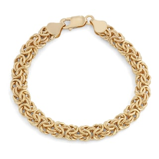 Gioelli 14k Yellow Gold Byzantine Bracelet