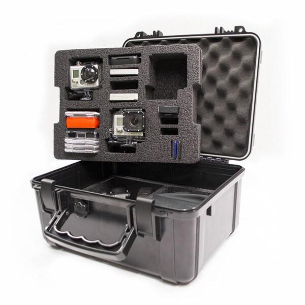Go Professional XB-652 Pro Watertight Rugged Case Custom Lower Tray for HD GoPro Cameras : Hero, Hero 2, Hero 3, Hero 3+, Hero 4