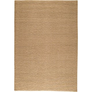 Hand-woven Ladh Beige New Zealand Wool Rug (3'x 5'4)