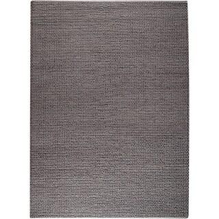 Hand-woven Ladh Grey New Zealand Wool Rug (3'x 5'4)