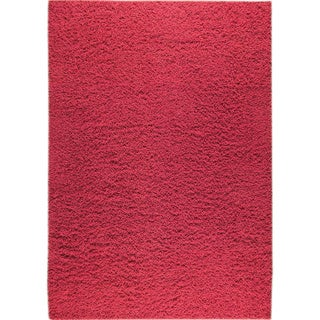 Hand-woven Lmix Red New Zealand Wool Rug (3'x 5'4)