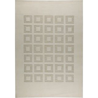 Hand-knotted Marm White/ M1 New Zealand Wool Rug (4'6x 6'6)
