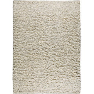 Hand-knotted Toky White New Zealand Wool Rug (4'6x 6'6)