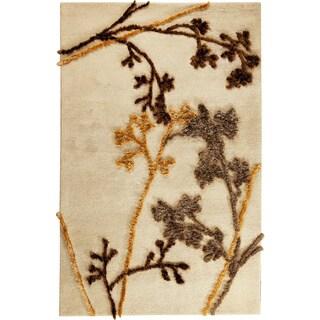 Hand-tufted Autumn Beige Wool Rug (5'2 x 7'6)