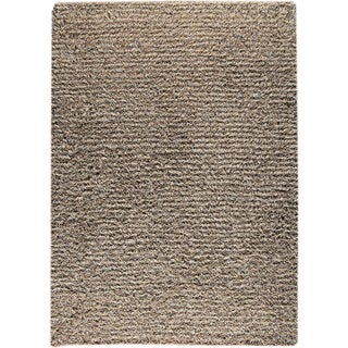 Hand-knotted Toky Grey/ Beige New Zealand Wool Rug (4'6x 6'6)