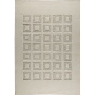 Hand-knotted Marm White/ M1 New Zealand Wool Rug (3'x 5'4)
