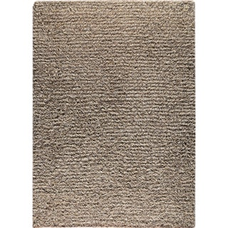 Hand-knotted Toky Grey/ Beige New Zealand Wool Rug (3'x 5'4)