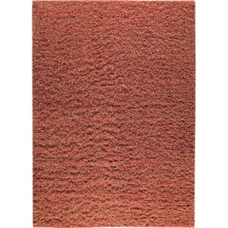 Hand-knotted Toky Red/ Rust New Zealand Wool Rug (3'x 5'4)
