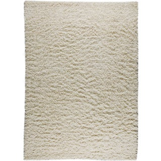 Hand-knotted Toky White New Zealand Wool Rug (3'x 5'4)