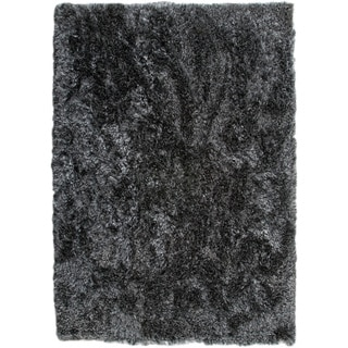 Hand-woven Duba Licorice New Zealand Wool Rug (3'x 5'4)
