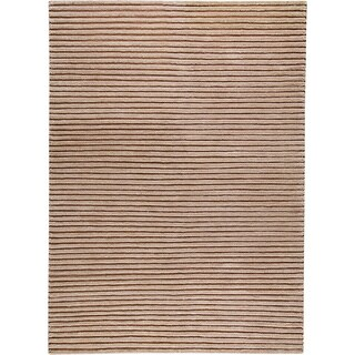 Hand-woven Goa Beige New Zealand Wool Rug (3'x 5'4)