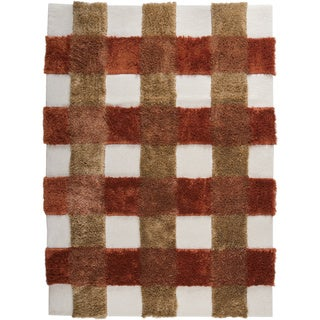 Hand-tufted Kent Rust New Zealand Wool Rug (4'6x 6'6)