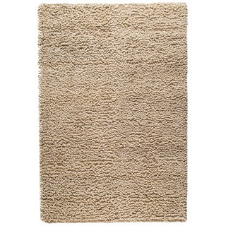 Hand-woven Berb Natural New Zealand Wool Rug (4'6x 6'6)