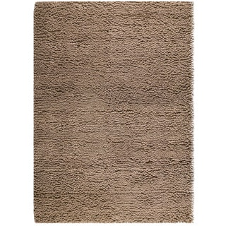 Hand-woven Berb Beige New Zealand Wool Rug (4'6x 6'6)