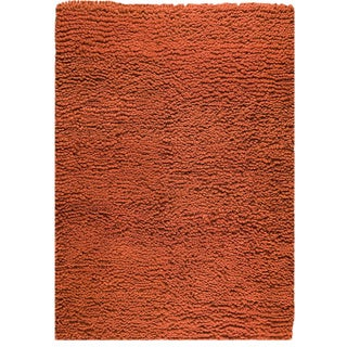 Hand-woven Berb Orange New Zealand Wool Rug (4'6x 6'6)