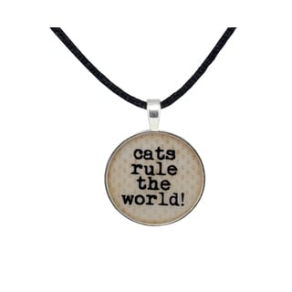Cats Rule Satin Necklace