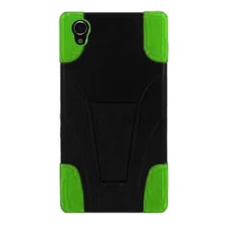 INSTEN T-Stand Dual Layer Hybrid Stand PC/Silicone Phone Case Cover For Sony Xperia Z2