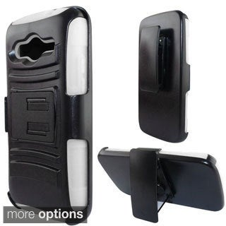 INSTEN Advanced Armor Dual Layer Hybrid Stand PC/ Silicone Phone Case Cover With Holster For Samsung Galaxy Avant