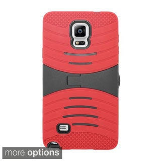 INSTEN Wave Symbiosis Dual Layer Hybrid Rubber Silicone/ PC Phone Case Cover With Stand For Samsung Galaxy Note 4