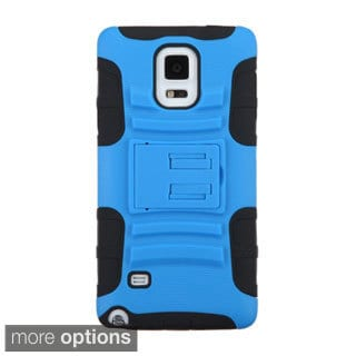 INSTEN Advanced Armor Dual Layer Hybrid Stand Rubberized Hard PC/ Silicone Phone Case Cover For Samsung Galaxy Note 4