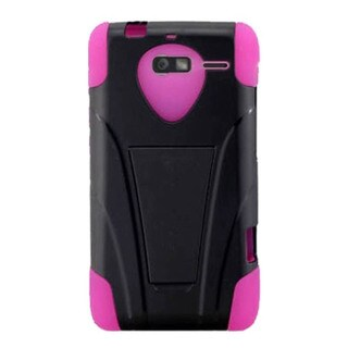 INSTEN T-Stand Dual Layer Hybrid Stand PC/Silicone Phone Case Cover For Motorola Droid Razr M Luge