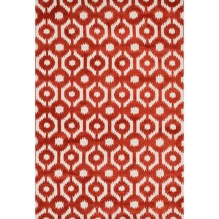 Aaron Rust Lattice Microfiber Woven Rug (5'0 x 7'6)