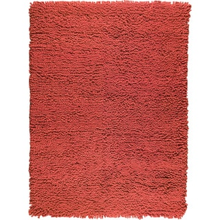 Hand-woven Berb Red New Zealand Wool Rug (4'6x 6'6)