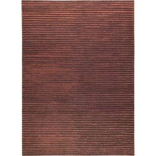 M.A.Trading Hand-woven Goa Brown New Zealand Wool Rug (4'6x 6'6)