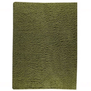 Hand-woven Smix Green New Zealand Wool Rug (4'6x 6'6)
