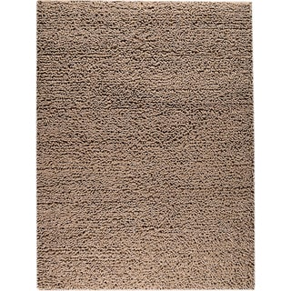 M.A.Trading Hand-woven Square Brown New Zealand Wool Rug (4'6x 6'6)