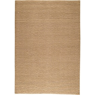 Hand-woven Ladh Beige New Zealand Wool Rug (4'6x 6'6)