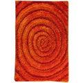 Hand-tufted Land Orange Area Rug (5'2 x 7'6)
