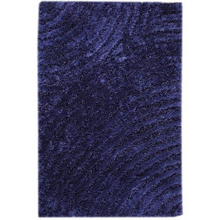 Hand-tufted Twee Blue Area Rug (5'2 x 7'6)