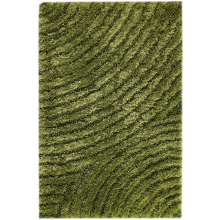 Hand-tufted Twee Green Area Rug (5'2 x 7'6)