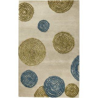 Hand-tufted Odys Sage Wool Rug (5'2 x 7'6)