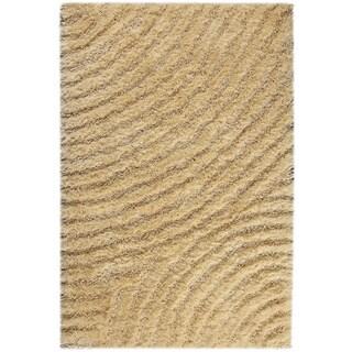 Hand-tufted Twee Vanilla Area Rug (5'2 x 7'6)