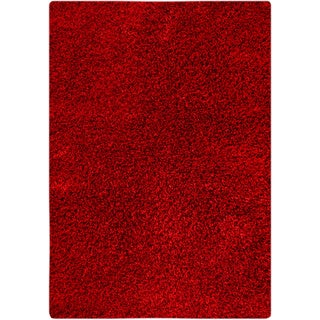 Hand-woven Cosm Red Area Rug (5'2 x 7'6)
