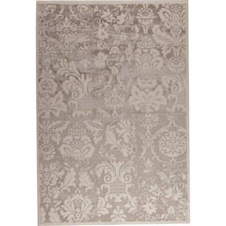 Baro White/ Beige New Zealand Wool Rug (5'2 x 7'6)