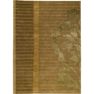 Hand-knotted Cort Green New Zealand Wool Rug (5'6 x 7'10)