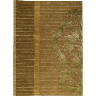 M.A.Trading Hand-knotted Cortina Green New Zealand Wool Rug (5'6 x 7'10)