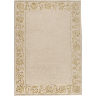 Hand-tufted Vien Cream New Zealand Wool Rug (5'6 x 7'10)