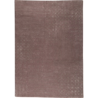 Hand-tufted Trip Grey New Zealand Wool Rug (5'6 x 7'10)