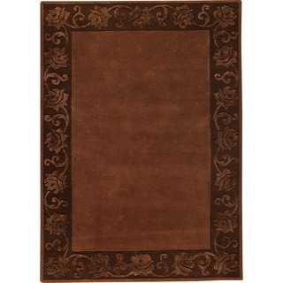 Hand-tufted Vien Chocolate New Zealand Wool Rug (5'6 x 7'10)