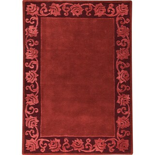 Hand-tufted Vien Plum New Zealand Wool Rug (5'6 x 7'10)