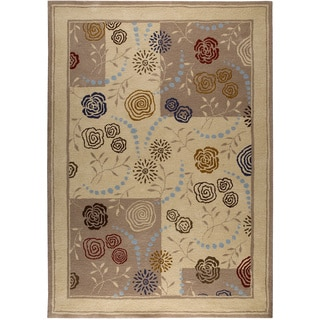 Hand-tufted Toro Beige New Zealand Wool Rug (5' x 8')