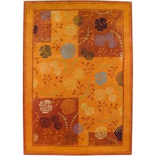 Hand-tufted Toro Rust New Zealand Wool Rug (5' x 8')